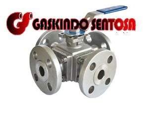 jual 4 way ball valve kitz